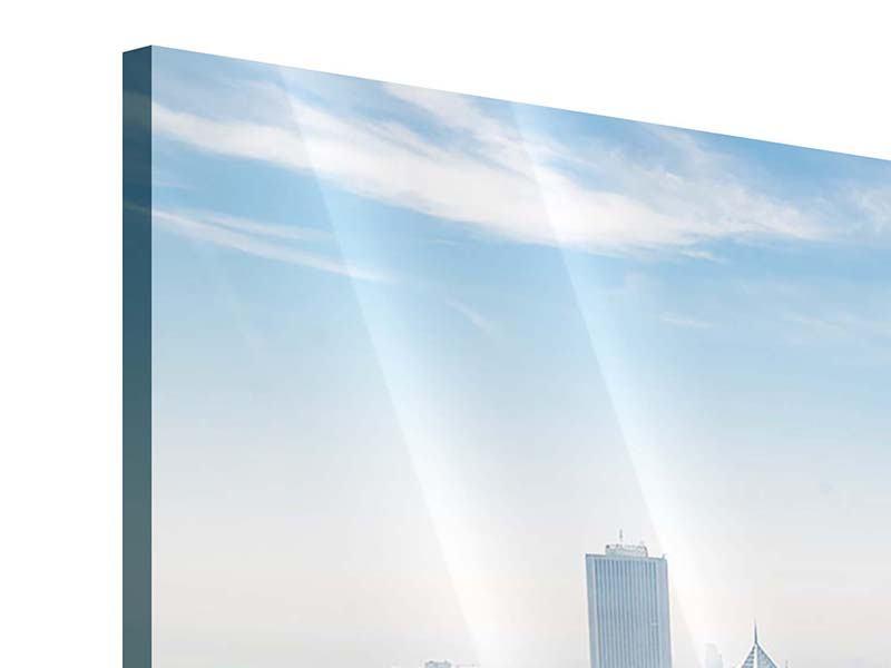 Panorama Acrylglasbild 3-teilig Wolkenkratzer Chicago