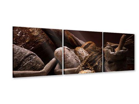 Panorama Acrylglasbild 3-teilig Brotbäckerei