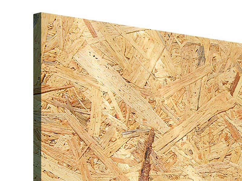 Panorama Acrylglasbild 3-teilig Gepresstes Holz
