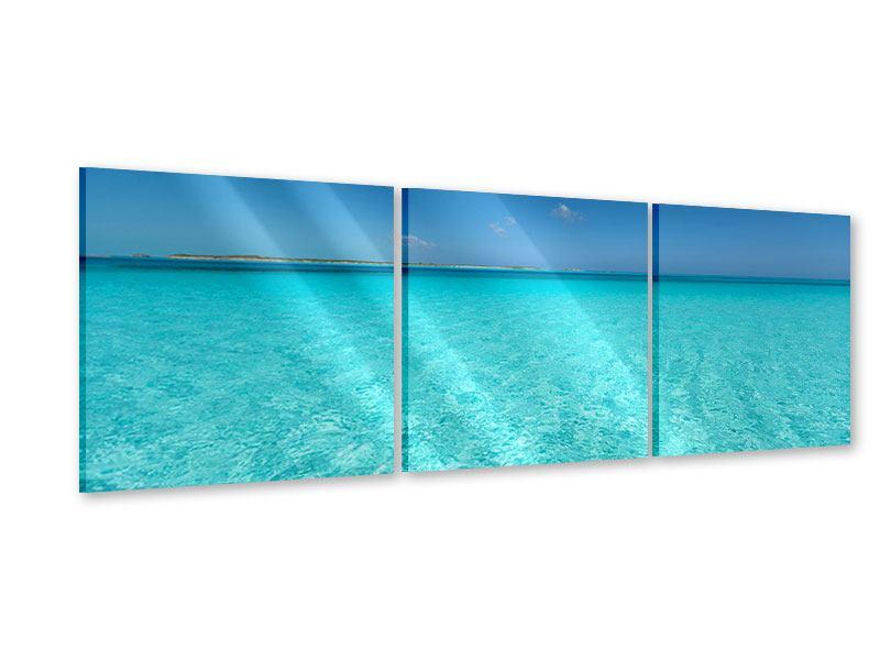 Panorama Acrylglasbild 3-teilig Das Meer und Jules Verne