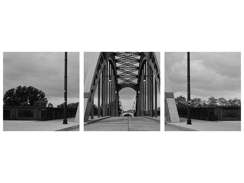 Panorama Acrylglasbild 3-teilig Poetische Brücke