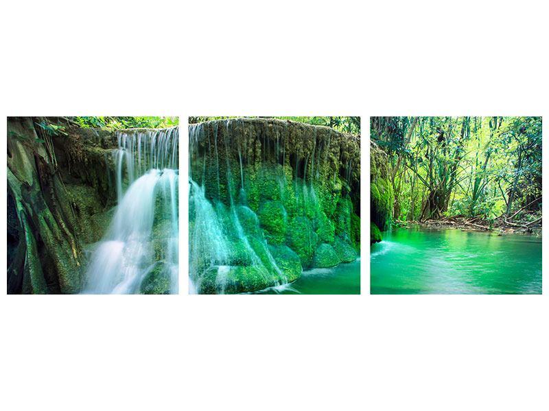 Panorama Acrylglasbild 3-teilig Im Paradies