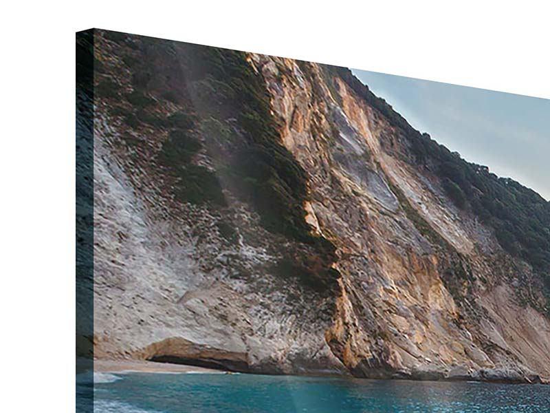 Panorama Acrylglasbild 3-teilig Felsen