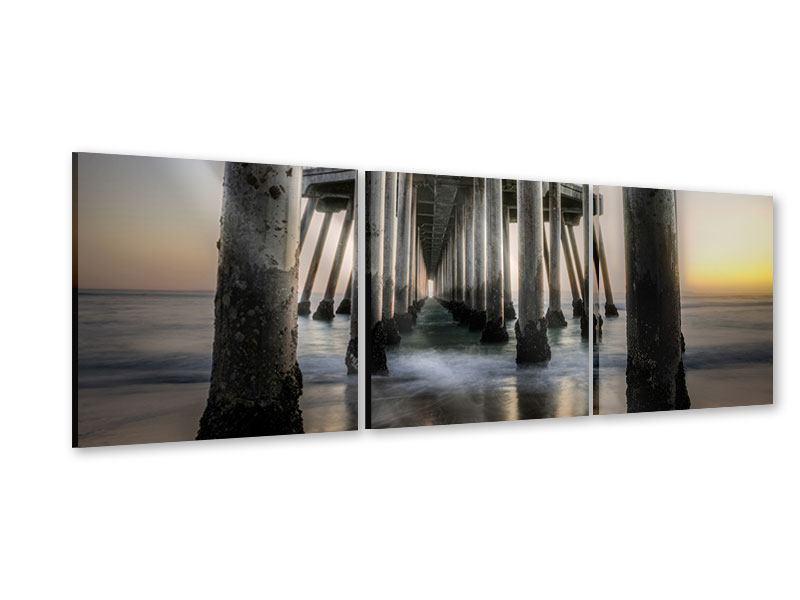 Panorama Acrylglasbild 3-teilig Brückenpfeiler