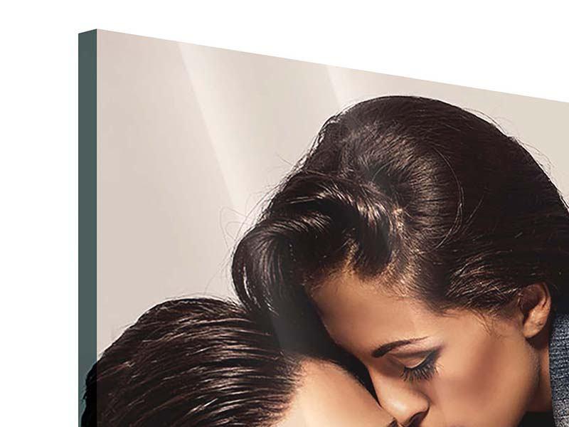 Panorama Acrylglasbild 3-teilig Love Is In The Air