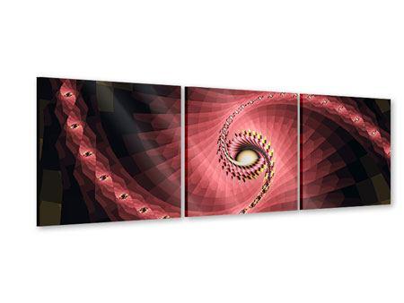 Panorama Acrylglasbild 3-teilig Abstrakte Windungen