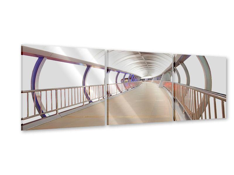 Panorama Acrylglasbild 3-teilig Brückenfeeling