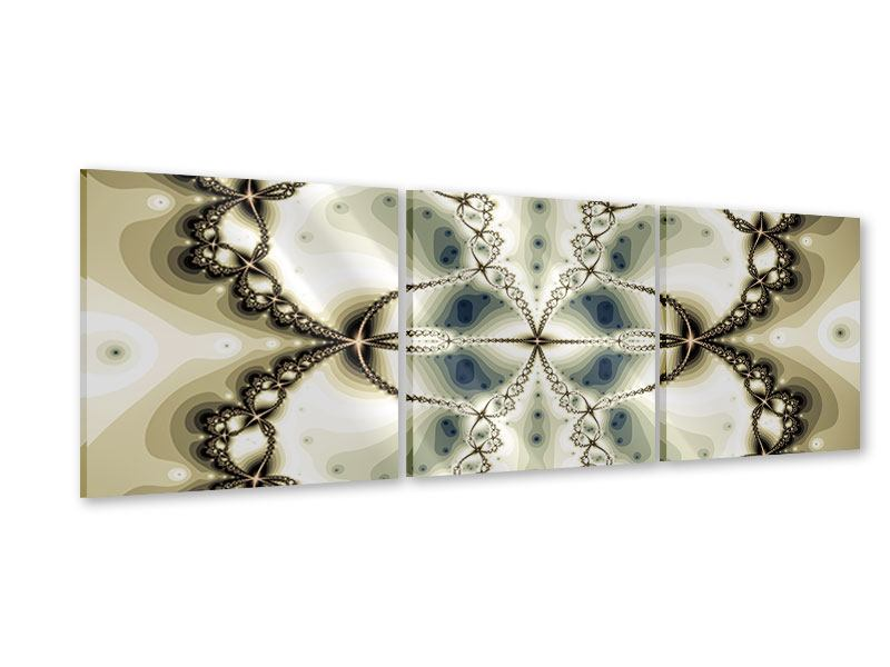 Panorama Acrylglasbild 3-teilig Abstrakter Schmetterling