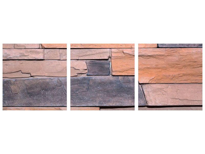 Panorama Acrylglasbild 3-teilig Wall