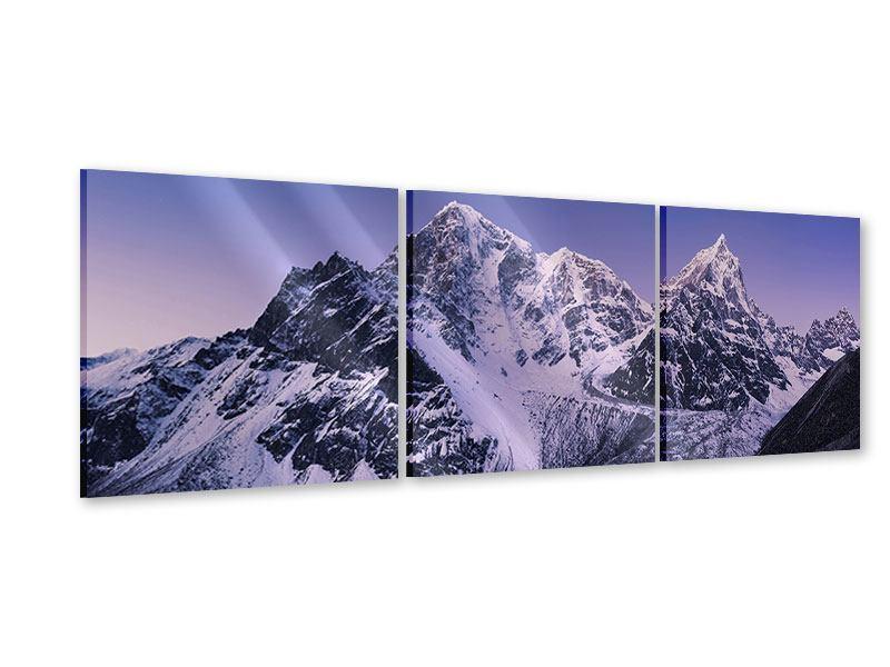 Panorama Acrylglasbild 3-teilig Taboche und Cholatse