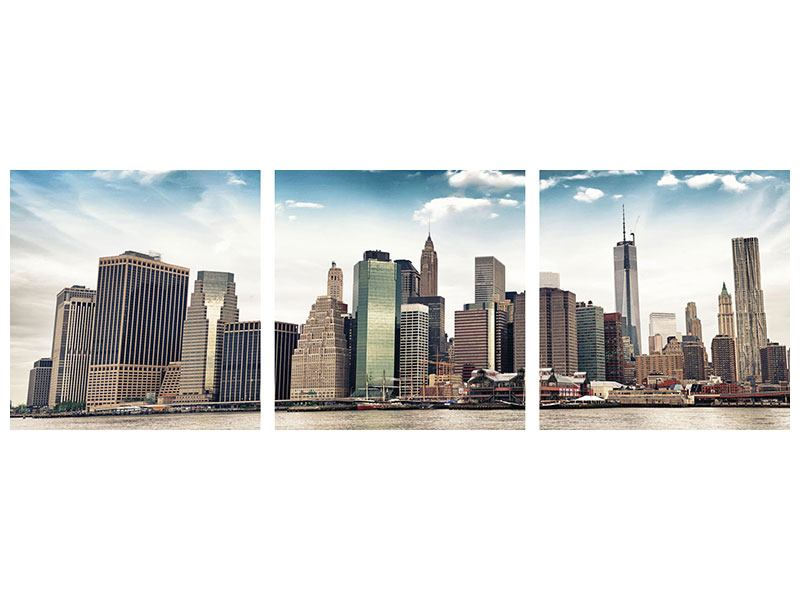 Panorama Acrylglasbild 3-teilig NYC From The Other Side
