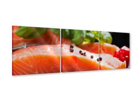 Panorama Acrylglasbild 3-teilig Frischer Fisch