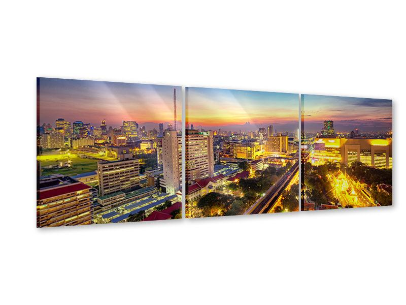 Panorama Acrylglasbild 3-teilig Bangkok