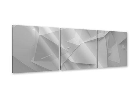Panorama Acrylglasbild 3-teilig 3D-Raster