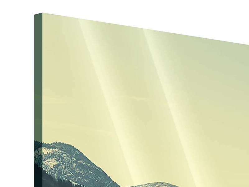 Panorama Acrylglasbild 3-teilig Der Bergsee