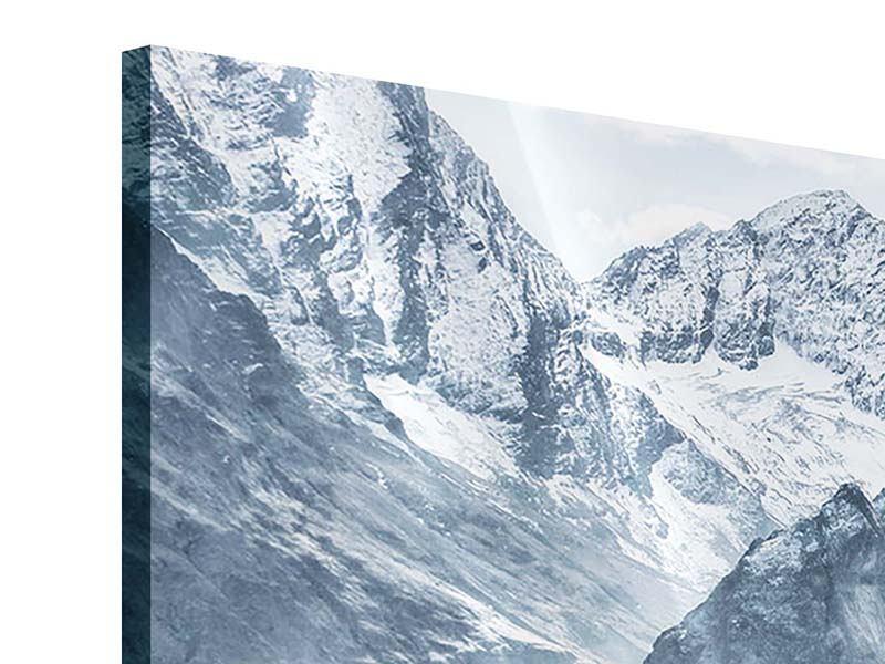 Panorama Acrylglasbild 3-teilig Gigantische Berggipfel