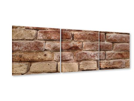 Panorama Acrylglasbild 3-teilig Loft-Mauer