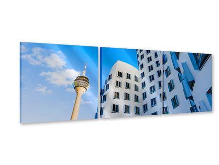 Panorama Acrylglasbild 3-teilig Neuer Zollhof Düsseldorf