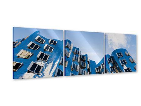 Panorama Acrylglasbild 3-teilig Neuer Zollhof