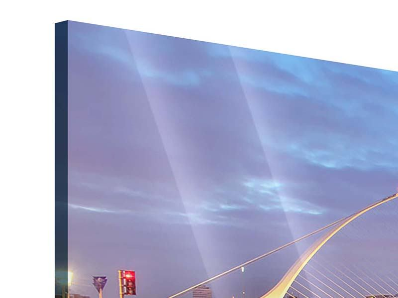 Panorama Acrylglasbild 3-teilig Samuel Beckett Bridge