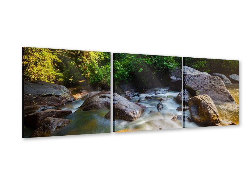 Panorama Acrylglasbild 3-teilig Das Gewässer