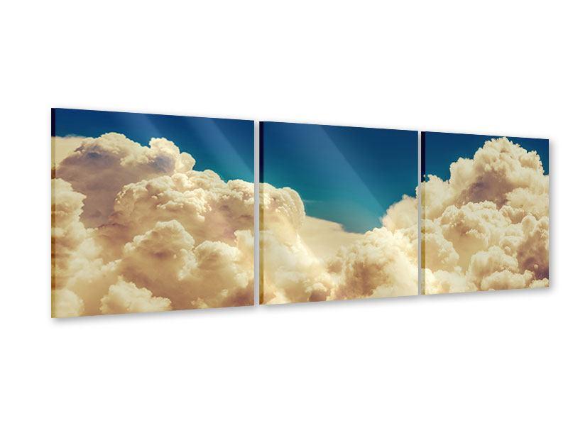 Panorama Acrylglasbild 3-teilig Himmelswolken
