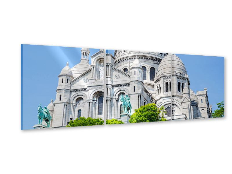 Panorama Acrylglasbild 3-teilig Paris- Montmartre