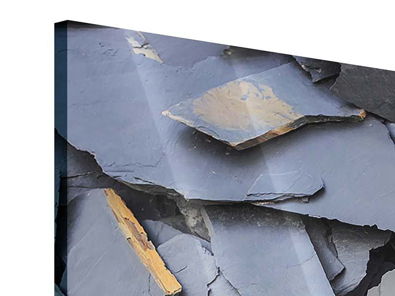 Panorama Acrylglasbild 3-teilig Schieferplatten