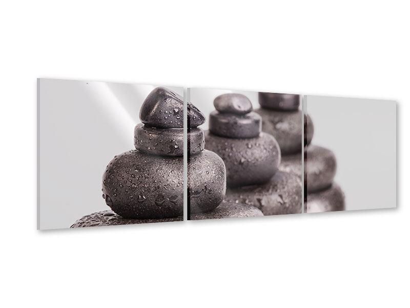 Panorama Acrylglasbild 3-teilig Die Kraft der Steine