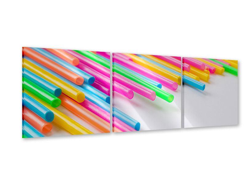 Panorama Acrylglasbild 3-teilig Pop Art