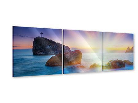 Panorama Acrylglasbild 3-teilig Mystisches Meer