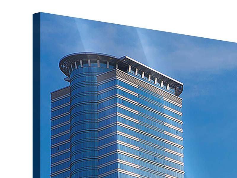 Panorama Acrylglasbild 3-teilig Zwei Wolkenkratzer