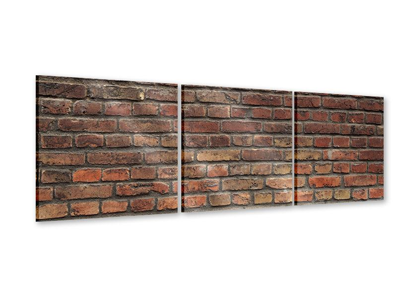 Panorama Acrylglasbild 3-teilig Brick Wall