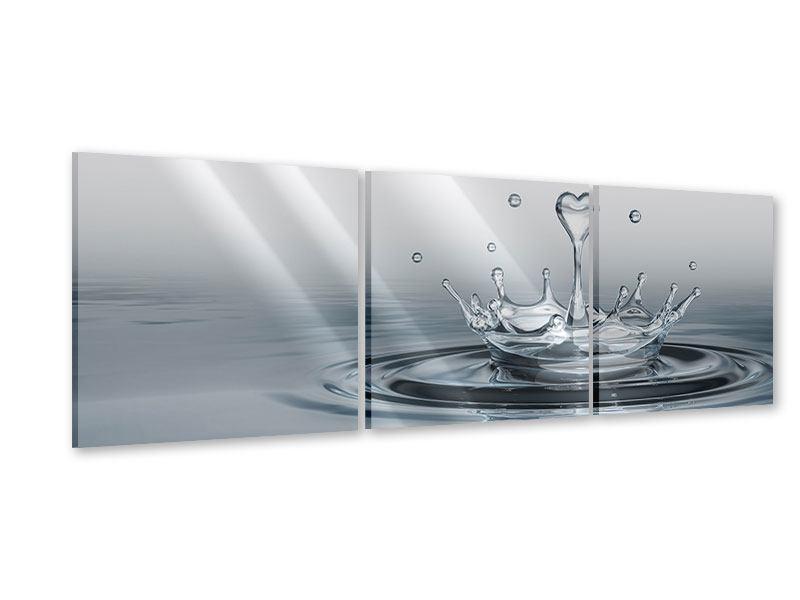 Panorama Acrylglasbild 3-teilig Wasserfigur