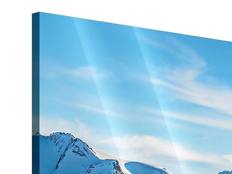 Panorama Acrylglasbild 3-teilig Sonnenaufgang in den Bergen