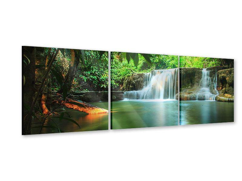 Panorama Acrylglasbild 3-teilig Element Wasser