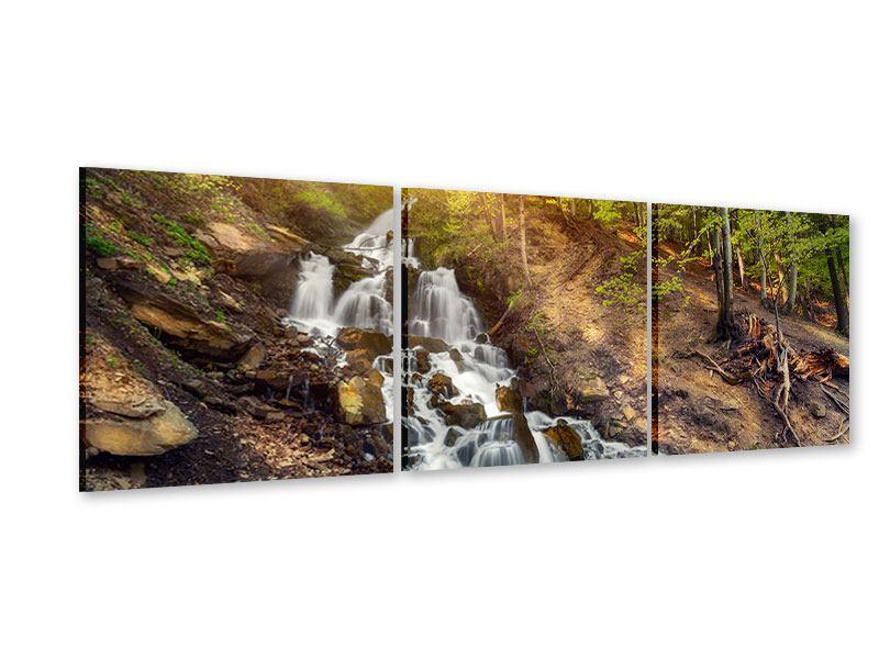 Panorama Acrylglasbild 3-teilig Naturschönheit