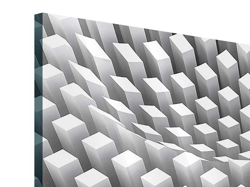 Panorama Acrylglasbild 3-teilig 3D-Rasterdesign