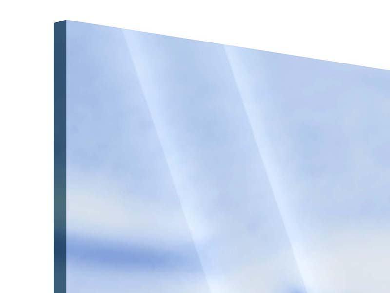Panorama Acrylglasbild 3-teilig Eiswürfel