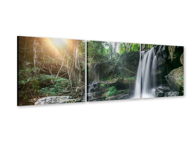 Panorama Acrylglasbild 3-teilig Naturschauspiel