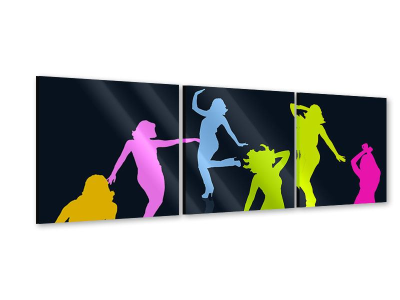 Panorama Acrylglasbild 3-teilig Schattenriss