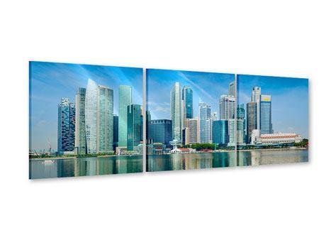 Panorama Acrylglasbild 3-teilig Skyline Mexiko-Stadt