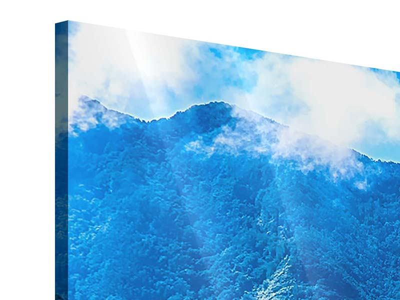 Panorama Acrylglasbild 3-teilig Die Berglandschaft