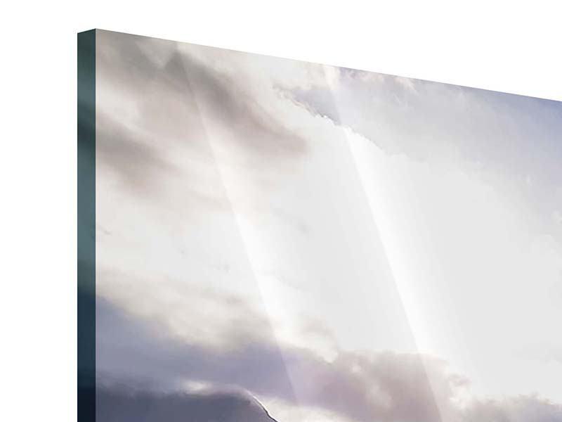 Panorama Acrylglasbild 3-teilig Der Frühling in den Bergen