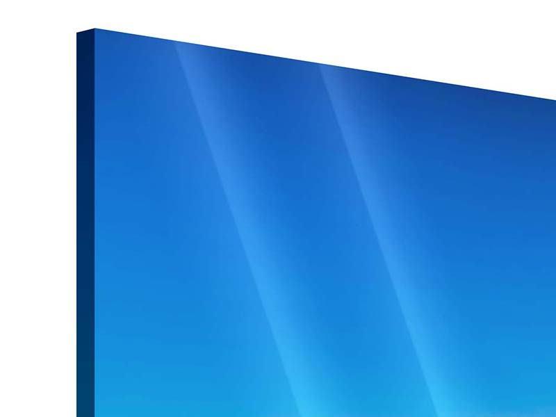 Panorama Acrylglasbild 3-teilig Berge am Meer