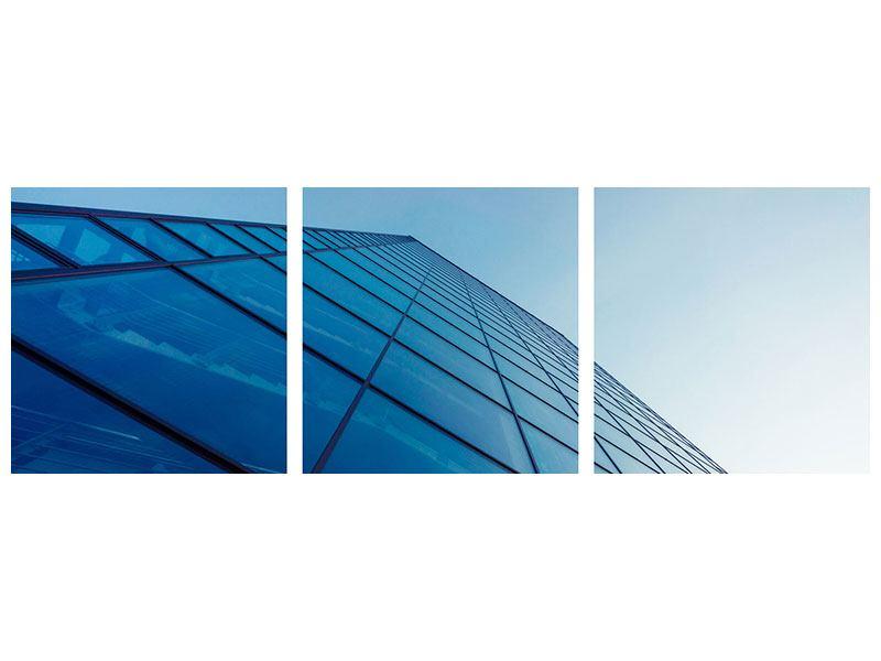 Panorama Acrylglasbild 3-teilig Wolkenkratzer-Highlight