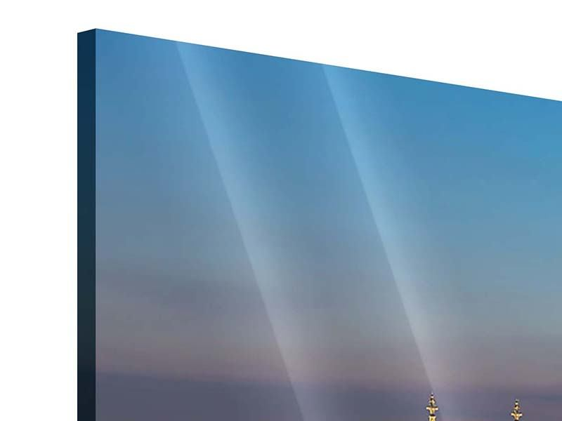 Panorama Acrylglasbild 3-teilig Skyline Kölner Dom bei Nacht