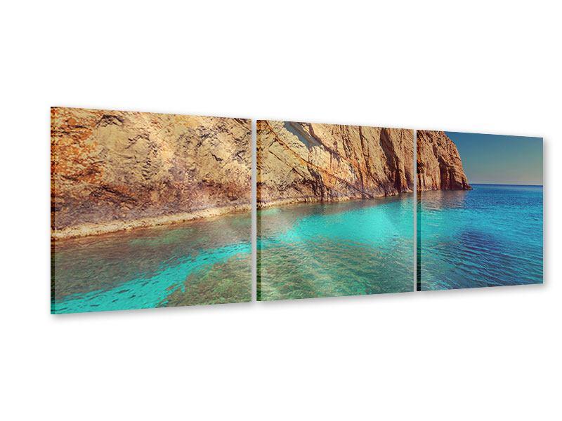 Panorama Acrylglasbild 3-teilig Wasser