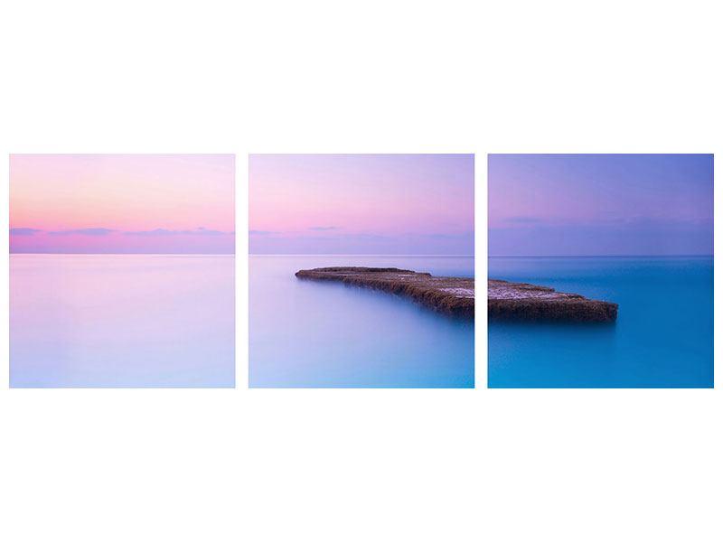 Panorama Acrylglasbild 3-teilig Unendlicher Ozean