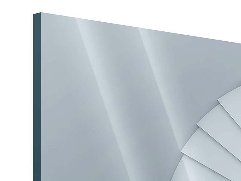 Panorama Acrylglasbild 3-teilig 3D Wendeltreppe